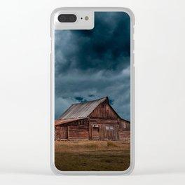 Log Cabin Barn Rural Landscape Clear iPhone Case