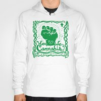 cannabis Hoodies featuring Yes We Cannabis by ART to GO Sasso