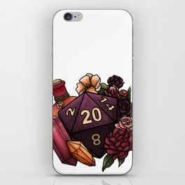 Sorcerer Class D20 - Tabletop Gaming Dice iPhone Skin