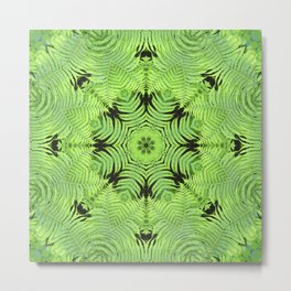 Fern frond fantasy kaleidoscope Metal Print