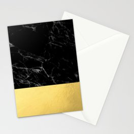 Black Marble & Gold Stationery Cards