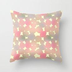 ombre pebbles Throw Pillow