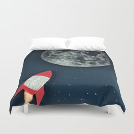 Rocket to the Moon Duvet Cover