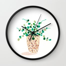 Little Round Leaves Wall Clock