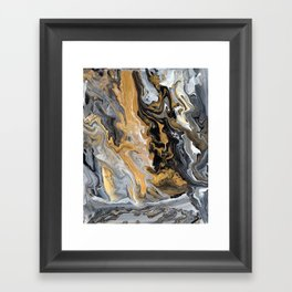 Gold Vein Marble Framed Art Print