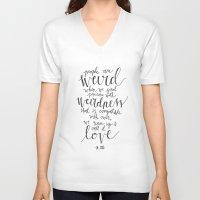 dr seuss V-neck T-shirts featuring Call It Love   Dr. Seuss Print by Voilà Paper Co.
