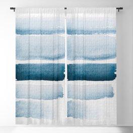 aquarelle meets pencil - stripes Blackout Curtain