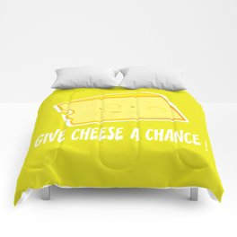 Give cheese a chance Comforters