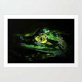 alligator baby eye va Art Print