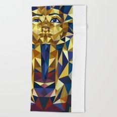 Golden Tutankhamun Beach Towel