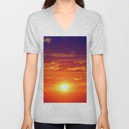 Neon Sunset Unisex V-Neck