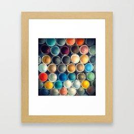 Honeycomb Palette 1x1 Framed Art Print