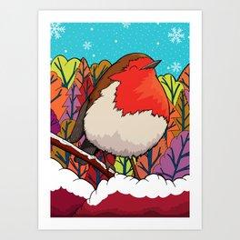 The Big Red Robin Art Print