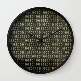 The Binary Code - Distressed textured version Wall Clock