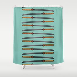 Pop Katana Shower Curtain