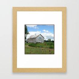 Ohio Bicentennial Barn - Wyandotte County, Ohio Framed Art Print