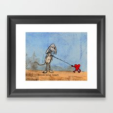 FOLLOW YOUR HEART Framed Art Print
