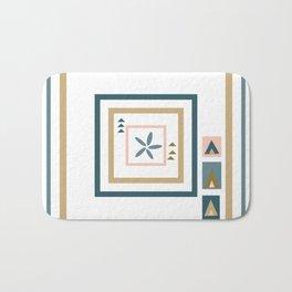 Abstract Medallion Quilt Art Bath Mat