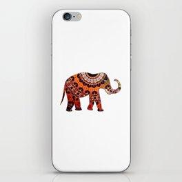 Exotic Brocaded Brown Rust and Orange Elephant iPhone Skin