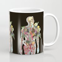 skeleton Mugs featuring Skeleton by Ben Giles