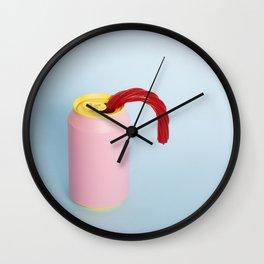 Licorice straw Wall Clock
