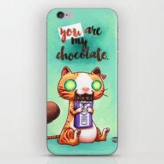 Chocolate addict iPhone & iPod Skin
