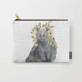cat with flower crown Carry-All Pouch