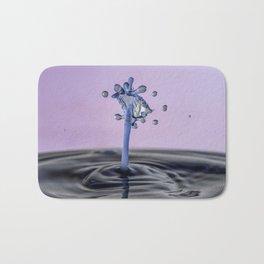 Blue water flower waterdrop Bath Mat