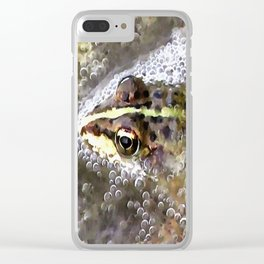 I'm Forever Blowing Bubbles Cute Frog Clear iPhone Case