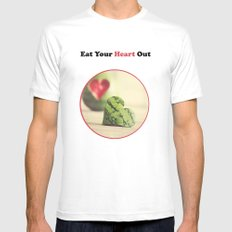 Eat Your Heart Out MEDIUM White Mens Fitted Tee