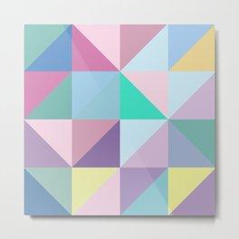 Square Triangle Metal Print
