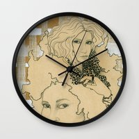 wild things Wall Clocks featuring Wild Things by SuburbanSavage