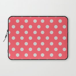 Coral Passion Thalertupfen White Pōlka Large Round Dots Pattern Laptop Sleeve
