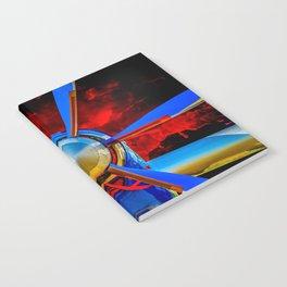 Blue propeller Notebook