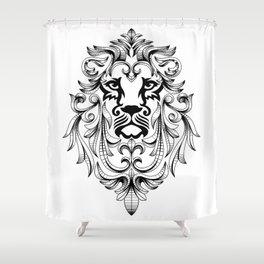 Heraldic Lion Head Shower Curtain