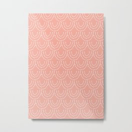 Dotted Scallop in Pink Metal Print