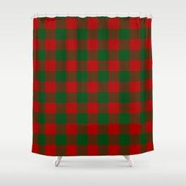 Buffalo Plaid Christmas Red Green Check Shower Curtain
