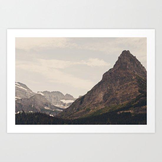 Montana Mountain Art Print