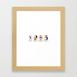 1985 - NAVY - My Year of Birth Framed Art Print