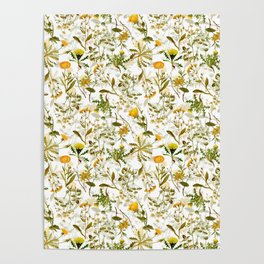 Vintage & Shabby Chic - Yellow Wildflowers Poster