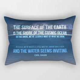 The Shores of the Cosmic Ocean Rectangular Pillow
