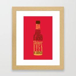 Typographical Shiner Bock Framed Art Print