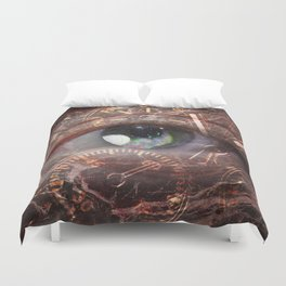 Time and Space Duvet Cover