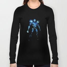 Dark Samus Simplified Long Sleeve T-shirt