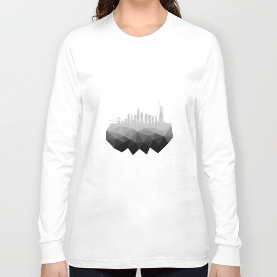 New York concrete silhouette Long Sleeve T-shirt