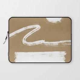 Beach abstraction - minimal bohemian sand Laptop Sleeve
