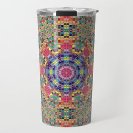 Stained Glass Mandala Travel Mug