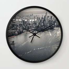 The Gray Cityscape of New York (Color) Wall Clock
