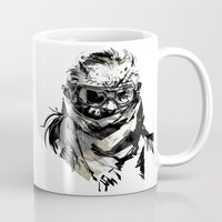 metal gear solid Mugs featuring Metal Gear Solid V BS  by Hisham Al Riyami