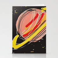 saturn Stationery Cards featuring Saturn by Rimadi
